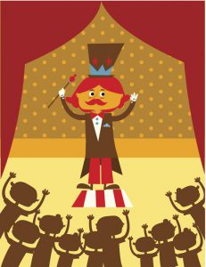Circus director. Circus magician vector illustration.